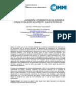 PRUEBAS AERODINÁMICAS EXPERIMENTALES DE AERONAVE CON ALTA RELACIÓN DE ASPECTO  A BAJOS REYNOLSD