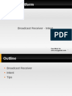 Android Platform BroadcastReceiver Intent