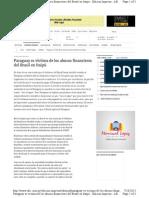 ITAIPU Paraguay es víctima de los abusos financieros del Brasil en Itaipú