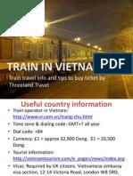 Train in Vietnam   Threeland Travel