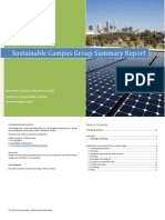 Sustainable Campus Group 2011 - Summary Report
