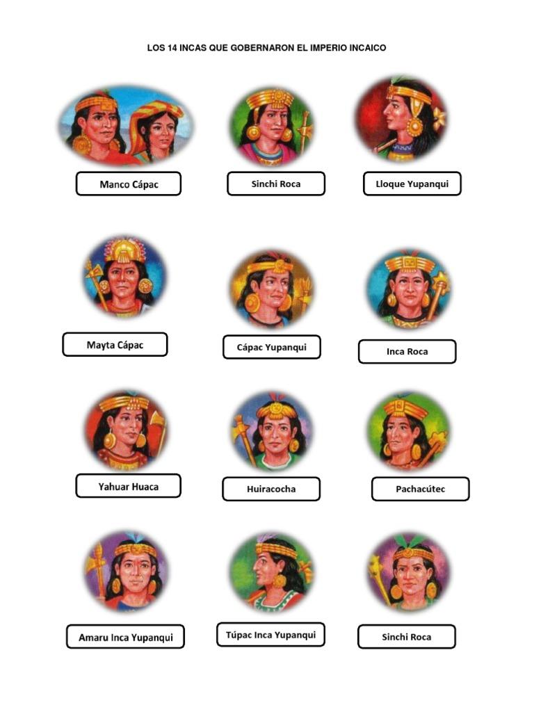 Los 14 Incas Que Gobernaron El Imperio Incaico América Del Sur Perú