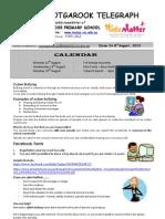 Newsletter 8th August