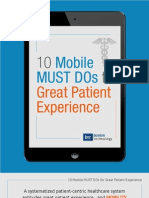10 Mobile Must Dos for Great Patient Experience