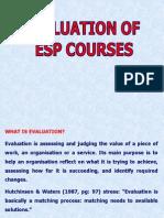 Esp Course Evaluation