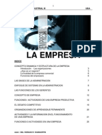 Concepto, Dinámica y Estructura de la Empresa