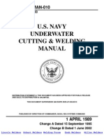 Underwater Cutting & Welding Manual -U.S. Navy