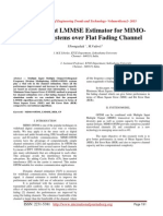An Efficient LMMSE Estimator for MIMOOFDM systems over Flat Fading Channel