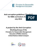 Comprehensive Anti Corruption Guidelines for Curriculum Change