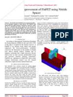 Performance Improvement of FinFET using Nitride Spacer
