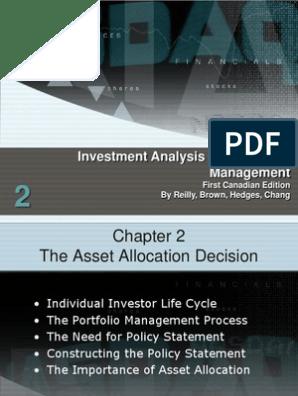 Investment analysis portfolio management scribd makuria investment management matthew johnson