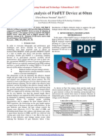 Performance Analysis of FinFET Device at 60nm