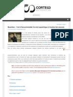 Quantique - méthodologie - déterminisme - Monvoisin - Cortecs