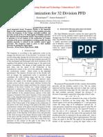 Delay Optimization for 32 Division PFD