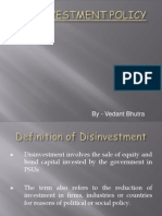 Disinvestment Policy