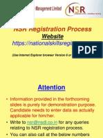 NSR Registration Demo Cognizant Candidates