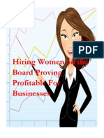 Companies Are Considering Women on the Executive Board