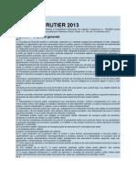 Cod Rutier 2013