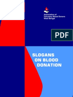 Slogan Booklet - Blood Donation