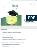 Opportunities in the Saudi Arabian education sector - White paper by ValueNotes