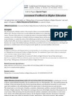 HESS Special Topic-Making Sense of Assessment Feedback in Higher Education