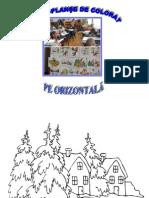 Desene de Colorat Iarna Pe Orizontala