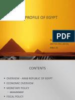 Economic Profile of Egypt Ppt