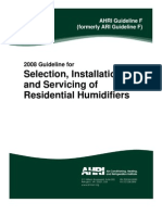 AHRI Guideline F 2008