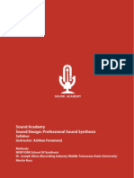 Sound Design Syllabus