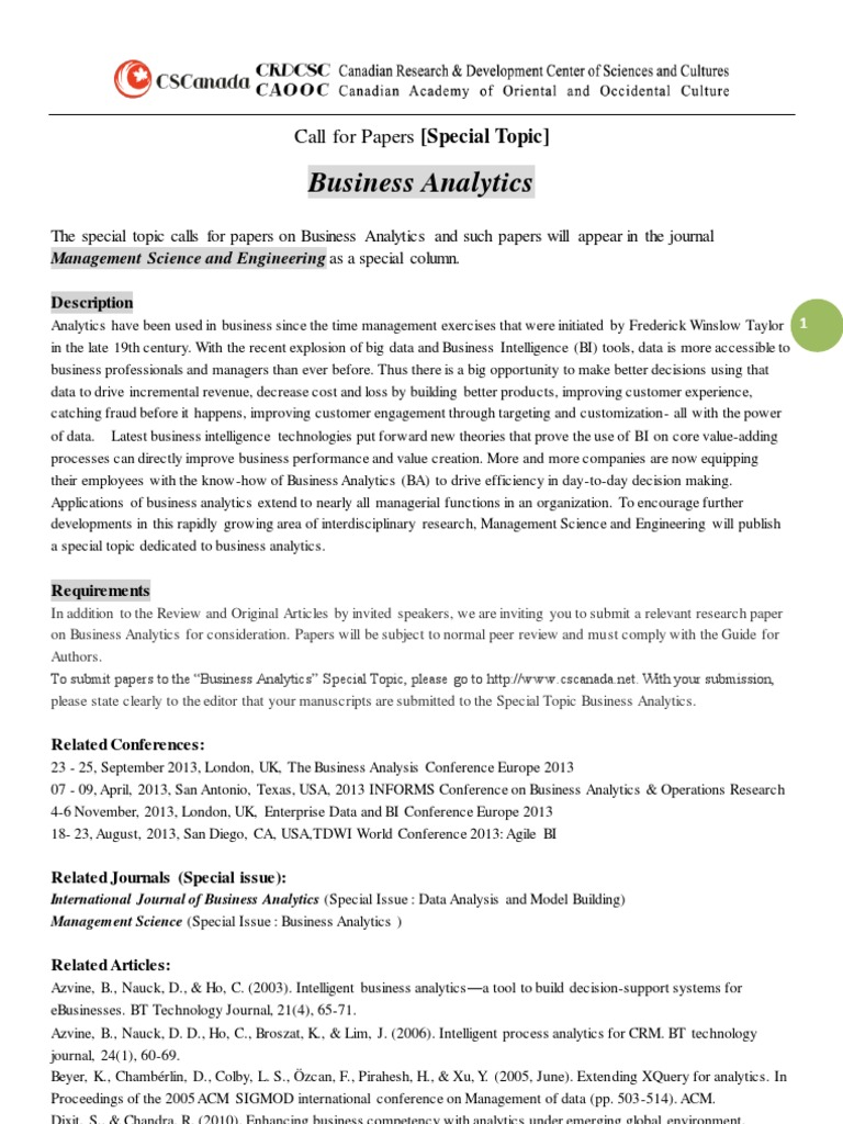 management science research topics
