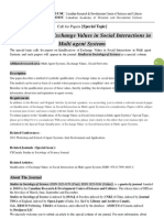 SSS Special Topic-Qualification of Exchange Values in Social Interactions in Multi Agent Systems