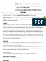 SSS Special Topic-Static and Dynamic Aspects of Scientific Collaboration Network