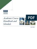TWC Course Handbook Schedule Fall 2009