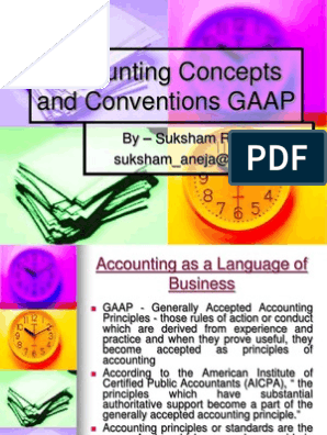 Accounting Concepts and Conventions | Generally Accepted