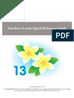 Salesforce App Limits Cheatsheet pdf