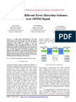 Analysis of Different Error Detection Schemes over OFDM Signal