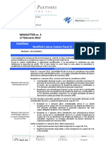 BP Newsletter 3_2012 Modificari Cod Fiscal (I) RO