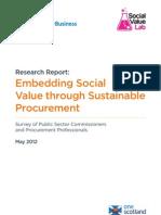 Lib Social Value Procurement Survey Report 2012