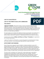 LIGHT UP THE STREETS VISUAL ARTS COMMISSIONS