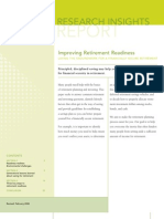 Improving Retirement Readiness (Fidelity Report)