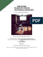 Film Schedule Aug-Sep13