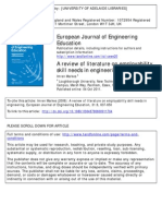 A Review of Literature on Employability Skill Needs in Engineering