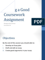 Writing a Good Coursework Assignment