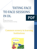Face to Face sessions