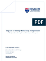 Impacts of Energy Efficiency Design Index