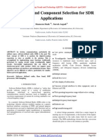 Architecture and Component Selection for SDR Applications