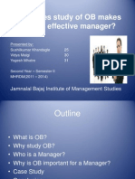 OB II - PPT (How Does Study of OB Makes an Effective Manager