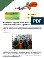'Matador de aluguel' preso na PB era pago para assassinar empresários e políticos na BA e SE