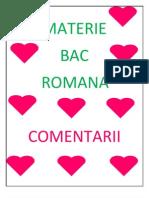 MATERIE Bac Romana
