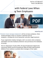 Complying with Federal Laws When Hiring Teen Employees